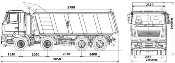 МАЗ 6516C9 521 005 3 купить