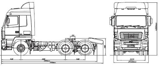 фото 2 МАЗ 64А02К-520-020 седельный тягач