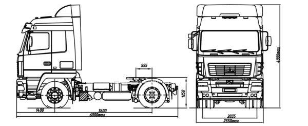 седельный тягач МАЗ 544028 520 030  купить  Хабаровск MAZ 544028 520 030