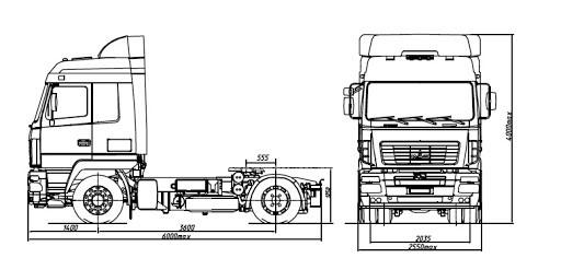 седельный тягач МАЗ 5440B7 1420 030