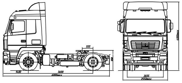 седельный тягач МАЗ 5440B7 1470 030  купить 2
