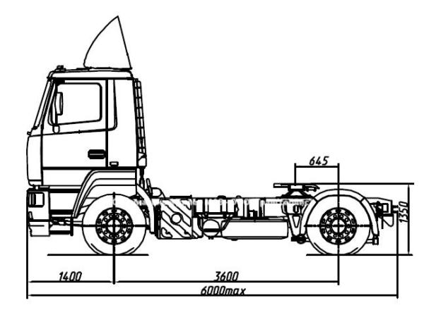седельный тягач седельный тягач МАЗ 5440B9 1450 030 купить